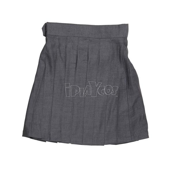 Harry Potter School Uniform Hermione Granger Grey Pleated Wool Skirt