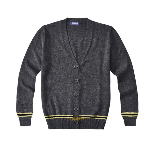 harry potter knitted hufflepuff School uniform cardigan