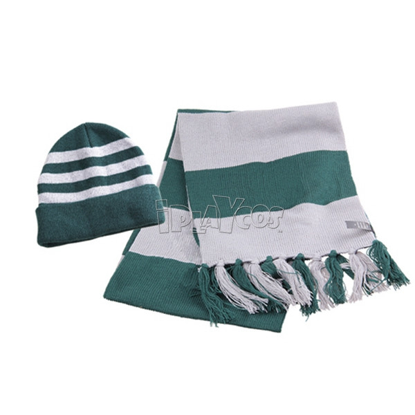 HARRY POTTER SLYTHERIN SCARF AND HAT SET