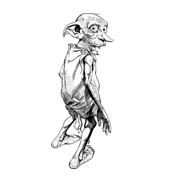 Harry Potter Dobby elves tattoo for body art painting fairy cosplay accessory body sticker