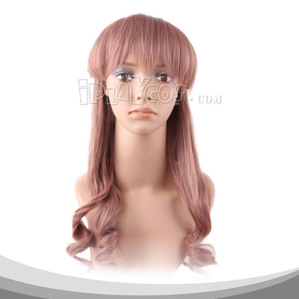 暗棕色长卷假发