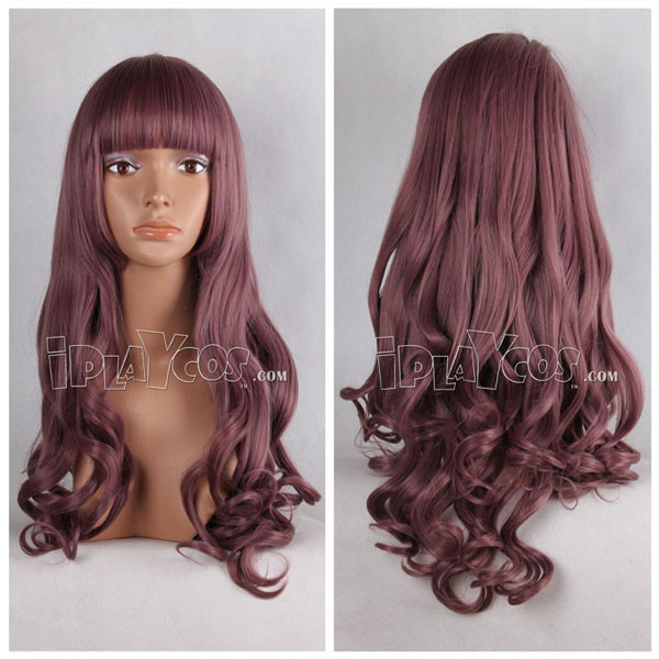 Brown Long Curly Anime Cosplay Full Wig