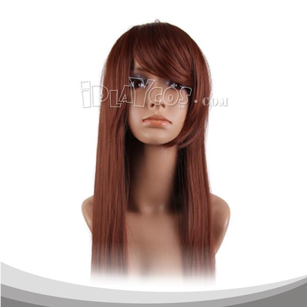 栗色长直假发