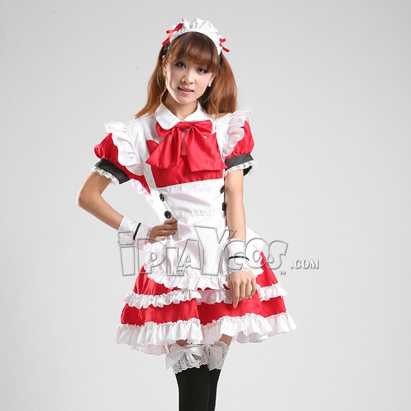 lolita-maid-equipment-red-maid-cosplay-anime-clothing-costume-lolita-women-s-apron-dress-set-1