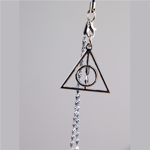 Harry Potter Porter retro Luna Deathly Hallows Triangle Pendant Mobile phone chain Key buckle ring