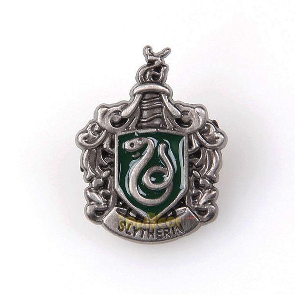 Harry Potter Slytherin metal badge brooch