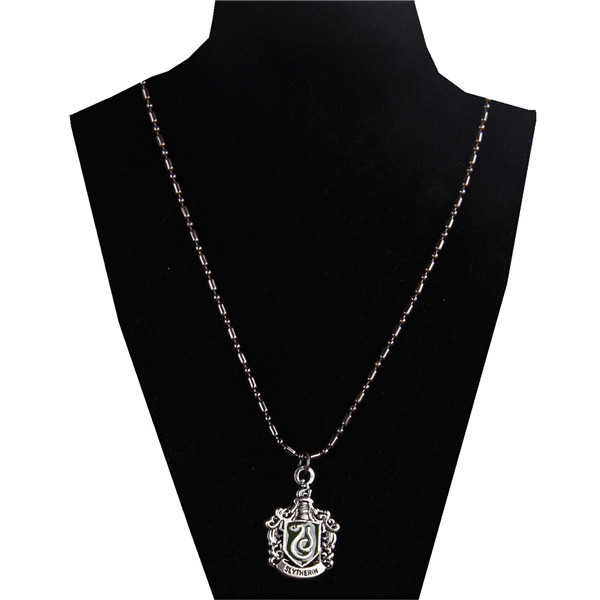 New Movie Harry Potter Slytherin Black Metal Necklace Collectible Toy Gift