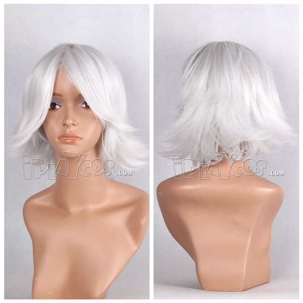 元气少女缘结神 瑞希 银白色 短发卷发 动漫假发