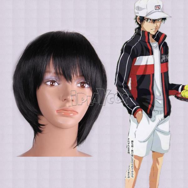 网球王子 越前龙马 黑色短发 高温丝 动漫假发