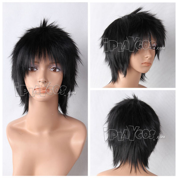 Black Short Straight Anime Cosplay Wig Full Wig