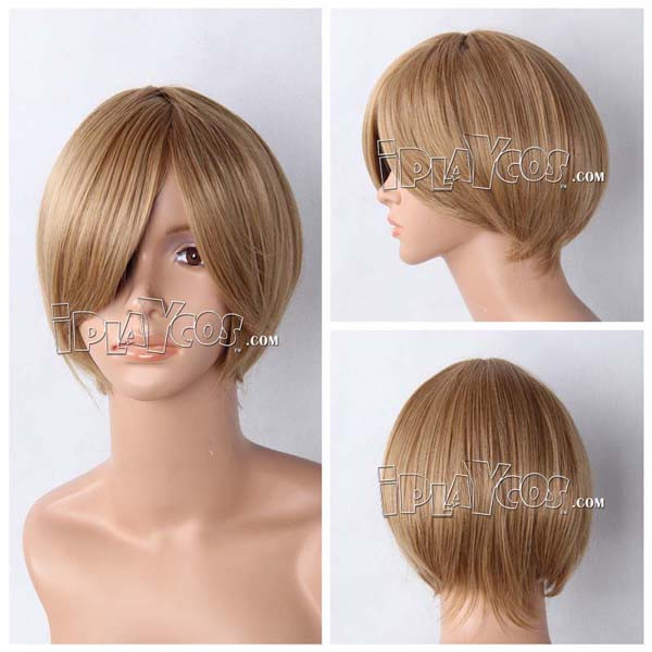 Brown Short Straight Anime Cosplay Wig Lace Wig