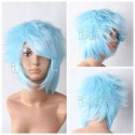 Cyan Short Straight Anime Cosplay Wig