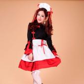 Maid Dress Cosplay Japanese Maid Costume Sexy Lolita Apron Dress Set Ladies