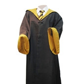 HARRY POTTER hufflepuff ROBE COSTUMES,SCHOOL UNIFORM