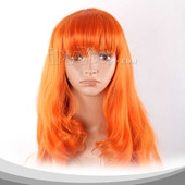 Yellow Long Curly Anime Cosplay Synthetic Wig