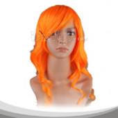 阳光橙色长卷假发
