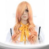 橙黄色长卷假发