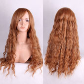 Brown Long Curly Anime Cosplay Synthetic Wig