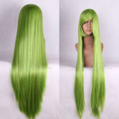 Pale Green 100cm Long Straight Anime Cosplay Wig