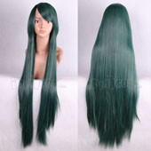 Green 100cm Long Straight Anime Cosplay Wig Full Lace Wig