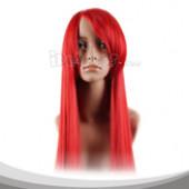 红色长发假发