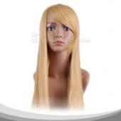 茉莉色长直假发