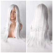 Silvery-white 70cm Long Straight Anime Cosplay Wig