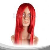 红色长直假发