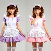 akihabara-maid-restaurant-uniforms-cosplay-costume-pink-apron-dress-set-s