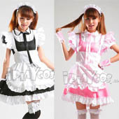 sweet-lolita-maid-cosplay-clothes-uniform-black-pink-apron-dress-set-s