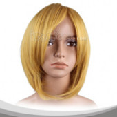 淡黄色中直假发