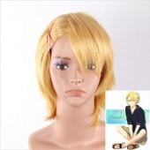 金黄色短发发动漫假发
