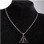 哈利波特项链 死亡圣器项链 卢娜三角挂饰项链 电影周边