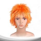 阳光橙短发假发