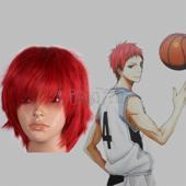 黑子的篮球 赤司征十郎 红色蓬松短发 动漫假发