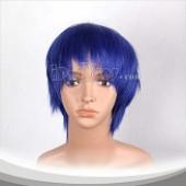 藏青色短发假发