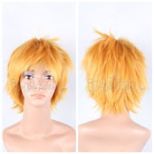 Blonde Short Straight Anime Cosplay Synthetic  Wig