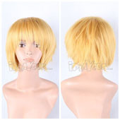 Yellow Short Straight Anime Cosplay Wig Full Synthetic Wig