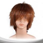 马鞍棕色蓬松短发假发
