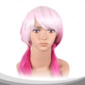 罪恶王冠 楪祈 淡粉桃红长发双辫假发