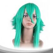 浅海蓝色长卷假发