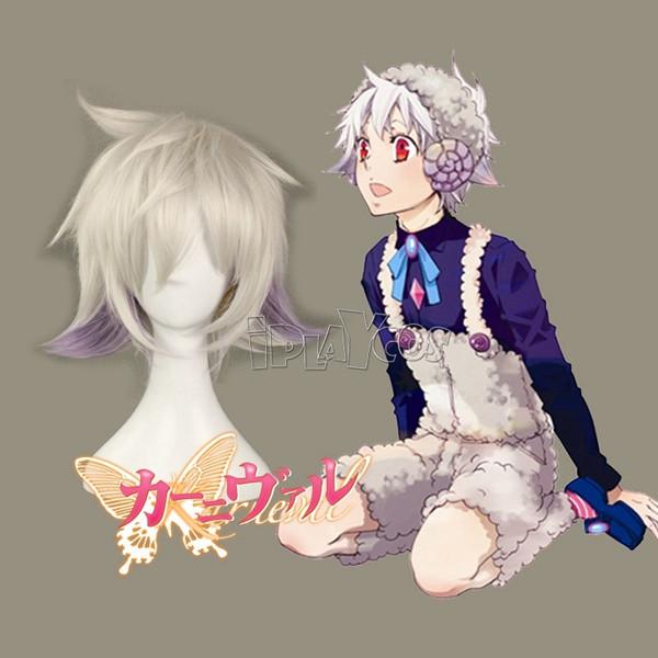 karneval NAI Short Straight Silvery-grey Anime Cosplay Wig