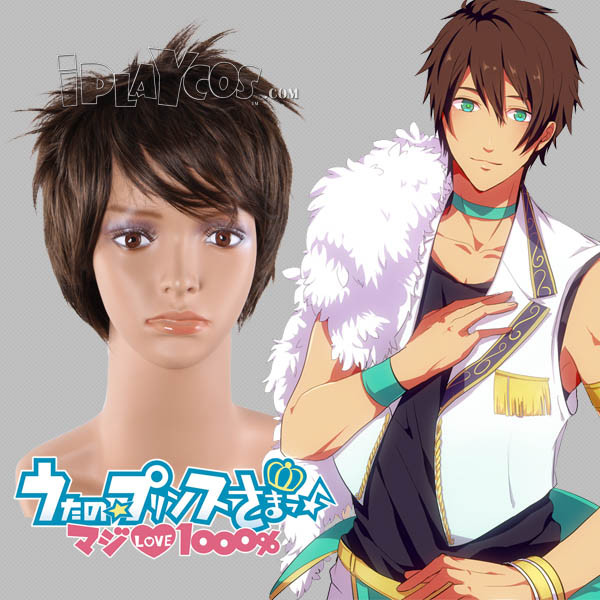 Uta no Prince-sama Aijima Seshiru Dark Brown Short Straight Anime Cosplay Wig