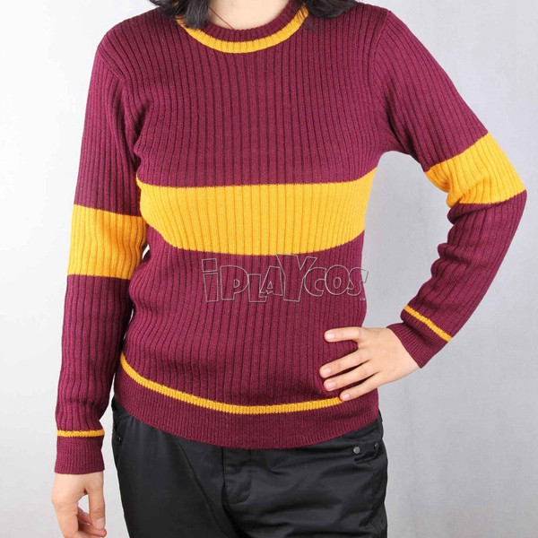 Harry Potter Quiddich Gryffindor Sport Knitted Garment Cosplay Costumes
