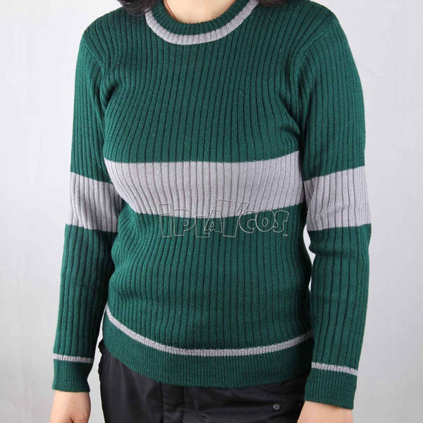 Harry Potter Quiddich Slytherin Sport Knitted Garment Cosplay Costumes