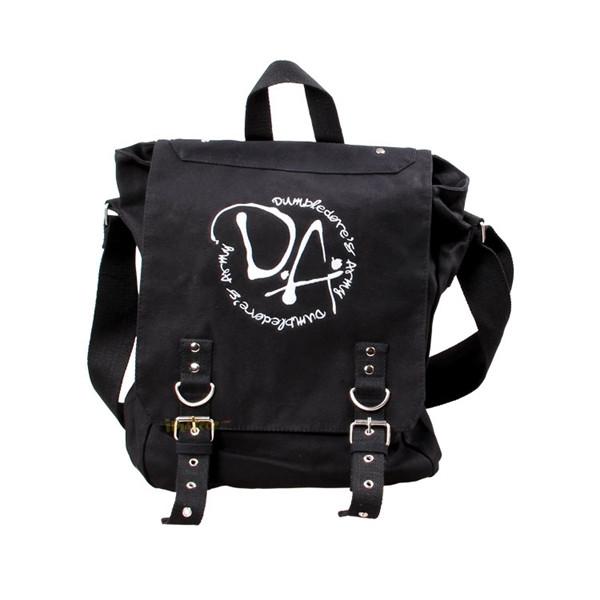 Harry Potter Dumbledurer's Army Embroidery Sling Backpacks DA Log Black Bag