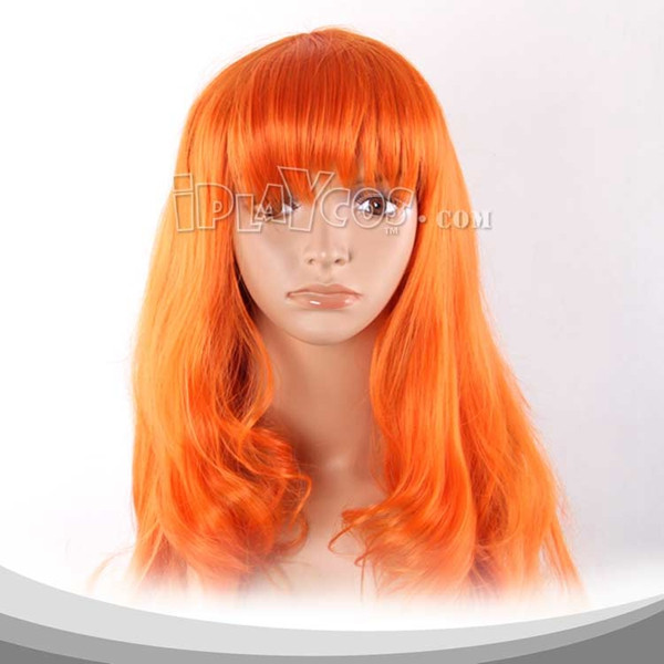 One Piece Nami Saffron Yellow Long Curly Cosplay Wig
