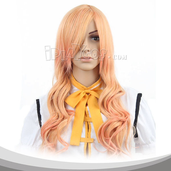 Saffron Yellow Long Curly Cosplay Wig