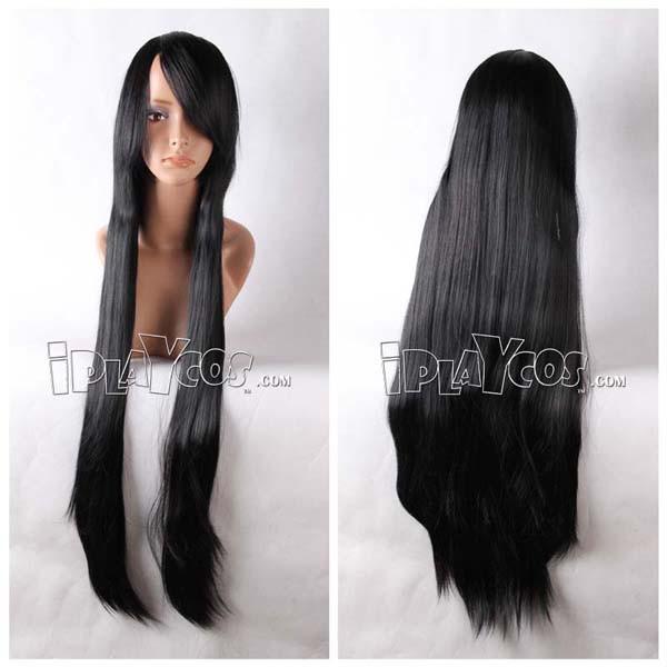 Black Long Straight Anime Cosplay Wig