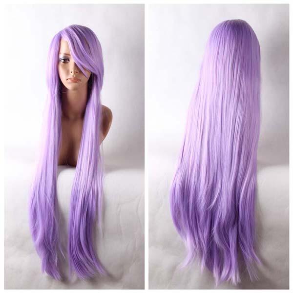 Purple Long Straight Anime Cosplay Wig